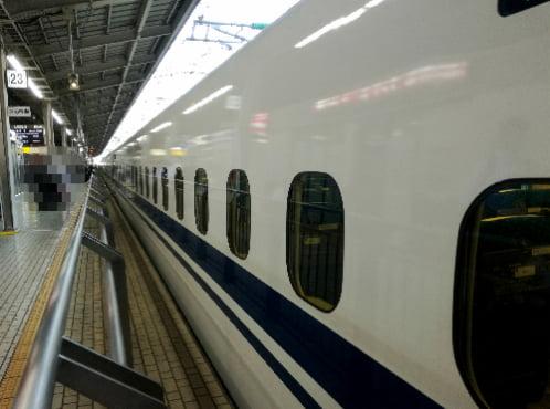 新幹線とサンダル